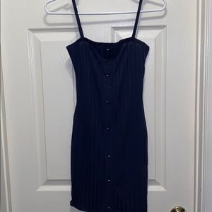 Navy right mini dress